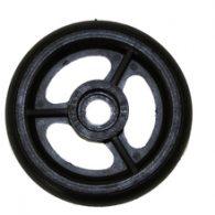 CW042 4 x 1″ 3 SPOKE CASTER Urethane Round Tire