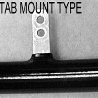 ANODIZED BLACK PUSH RIM – 6 TAB MOUNT (SOLD IN PAIRS)