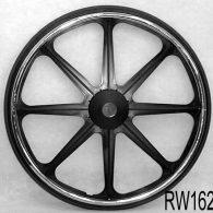 RW163 24 x 1 3/8″ 8 SPOKE MAG Flush Hub For 7/16″ Axle Urethane Street Tire
