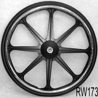 RW171 24 x 1 3/8″ 8 SPOKE MAG Recessed Hub Fits 1/2″ Axle Pneumatic Street Tire
