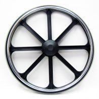 RW112 20 x 1 3/8″ 8 SPOKE MAG Flush Hub For 7/16″ Axle Urethane Round Tire