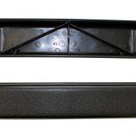 BLACK PLASTIC ARMREST (FULL LENGTH), AR091