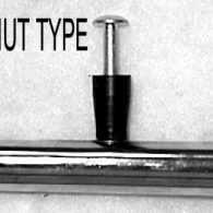 PR031 22 x 1 3/8″ RIVNUT TYPE (4) PUSHRIM CHROME PLATED STEEL